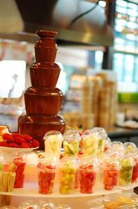 Choklad fontän skopor idéer