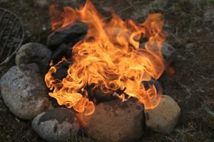 Utomhus eld grop designidéer