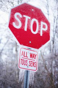 Steg för att göra en stoppskylt