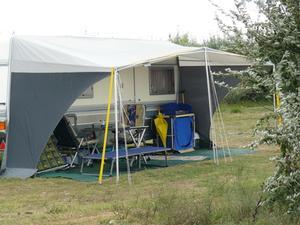 Instruktioner för en Trailer tält förtält