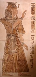 Konstprojekt för egyptiska hieroglyfer
