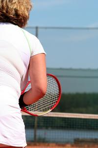Tejpning teknik för tennisarmbåge