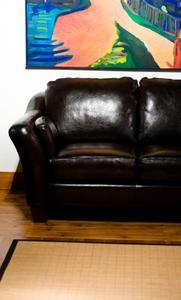 Den bästa läder soffan renare