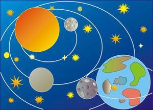 Hur man gör en 3D-modell av solsystemet för ett projekt