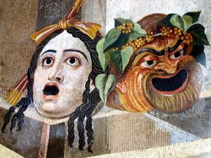 Information om grekiska teatern & Costuming