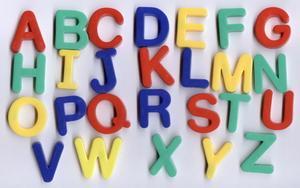 Förskola klassrumsaktiviteter med alfabetet Letter schabloner