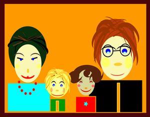 Idéer för familj bild styrelser för förskolebarn