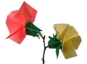 Hur man Origami Vas hög papper