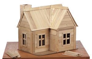 Hur man bygger ett hus av lollipop pinnar