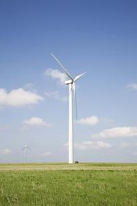 Barnens interaktiva delar av ett vindkraftverk