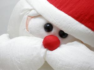 Julgran inredningsidéer med Santa