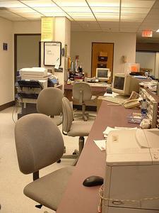 Arbetsbeskrivning för sjukhuset ward kontorist
