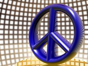 Peace sign teman för födelsedagskalas