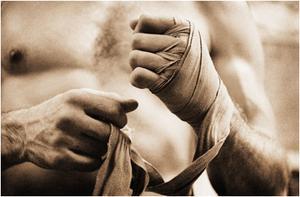 Hur vill radbryta boxning Handwraps