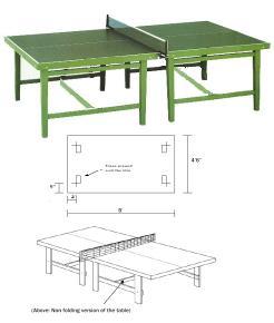 Hur man utformar ett pingisbord med ritningar