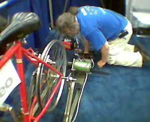 DIY cykel-powered generator
