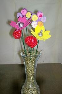 Hur man gör godis blomma Centerpieces