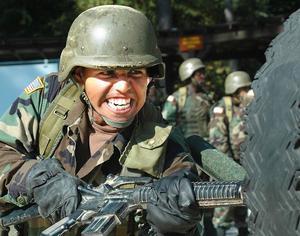 Armén basic training rutiner