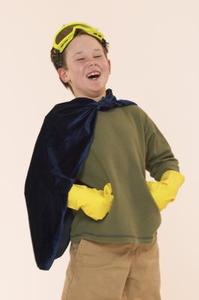Enkel hemmagjord superhjälte dräkter
