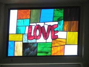 Om målat glas fönsterfilm