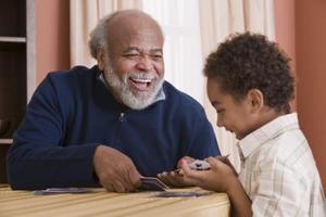Barnens spel för pensionärer