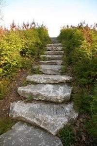 Hur man bygger steg in i en sluttning