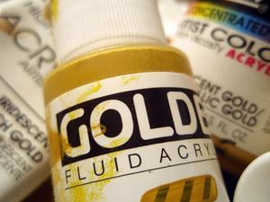 Cool färg tekniker för guldfärg