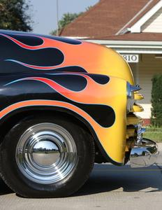 Steg för steg om hur man rita realistisk bil Flames