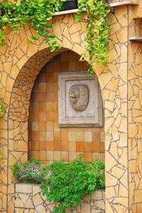 Hemgjord vägg fontäner
