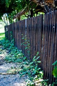 Hur man använder en trädgård spruta för staket fläcken