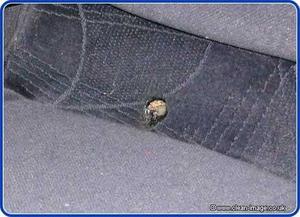 Vad göra för cigarett hål i dina bilsäten?
