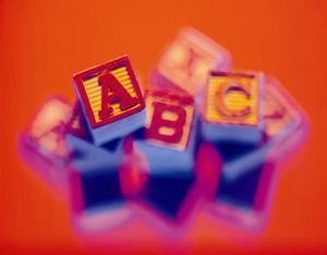 Handgjorda alfabetet Letter kudde