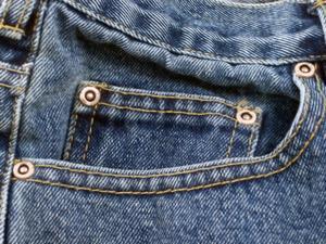 Hur man gör virkad blå Jean trasmattor