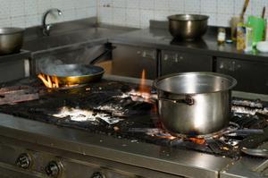 Kök brandsäkerhet för barn
