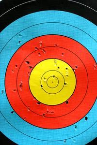 Hemgjord Pellet pistol mål