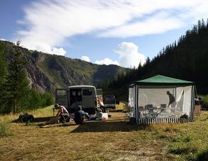 Hemgjord Camping kök