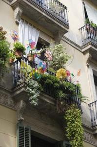 Trädgårds-växter för balkong