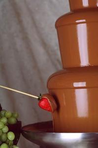 Vad gör ett dopp i en choklad fontän?