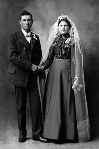 1800-talet stil bröllopsklänningar