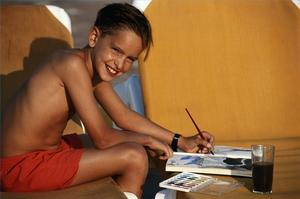 Hur man rita med akvarell pennor