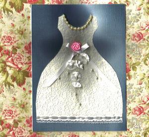 Hur man gör ett papper bröllop klänning för ett kort