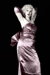Håret för Pinup tjejer på 1950-talet