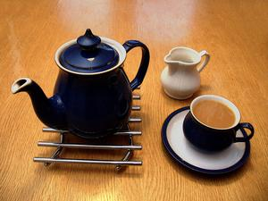 Instruktioner för att göra en kopp te