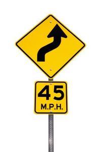 Alabama trafiklagar: Gul hastighetsgräns tecken