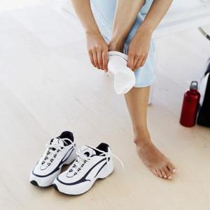 Hur till ren vit sport strumpor