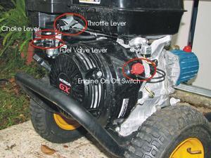 Felsökning av Honda högtryckstvätt