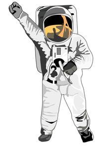 Astronaut papper plattan hantverk för barn